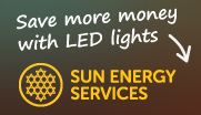 Save more money with LED lights - Sun Energy Services